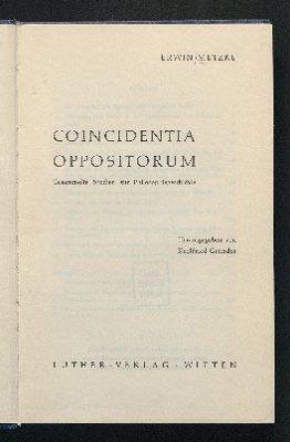 Coincidentia oppositorum