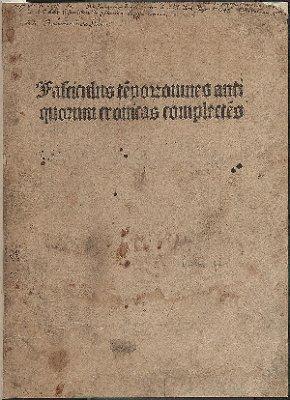 Fasciculus te[m]porum omnes antiquorum cronicas complecte[n]s (Fasciculus temporum)