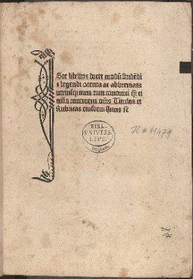 Iste libellus docet modum studendi et legendi contenta ac abbreviata utriusque iuris tam canonici quamque civilis