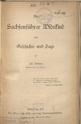 Der Sachsenführer Widukind nach Geschichte und Sage